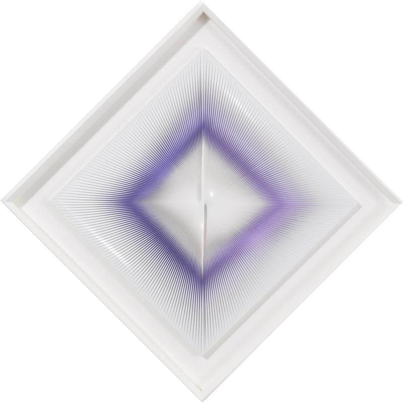 Alberto Biasi Blue Dynamic Square Image